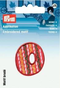 Prym Embroidered Letter 'O' Motif