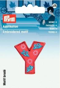 Prym Embroidered Letter \'Y\' Motif