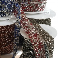 2 Sizes Iron-on Rhinestones Trim