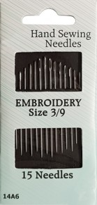 15 Embroidery Needles