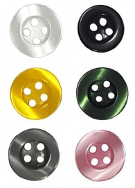 4 Hole Round Rimmed Shirt Button