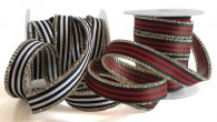 15mm Iron-On Striped Ribbon Trim