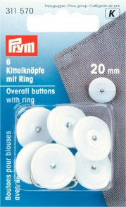 Prym Overall Buttons With Ring