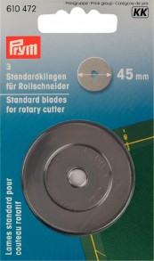 3 Standard Blades for Rotary Cutter 45mm