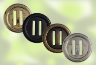 2-HOLE METAL BUTTON