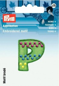 Prym Embroidered Letter 'P' Motif