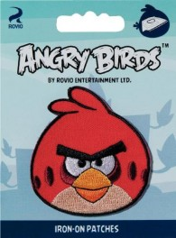 Prym Iron-On Angry Birds Patch - Red