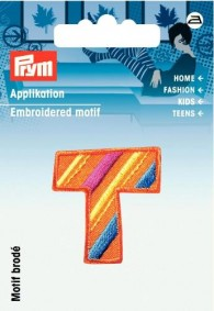 Prym Embroidered Letter 'T' Motif