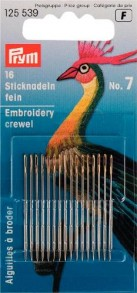 Prym Hand Embroidery Crewel Needles