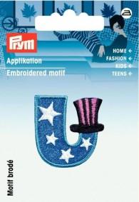 Prym Embroidered Letter 'U' Motif