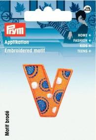 Prym Embroidered Letter 'V' Motif