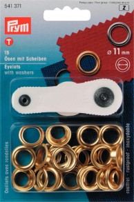 15 Eyelets with Washers with tool