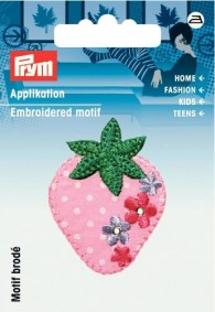 Prym Embroidered Strawberry Motif