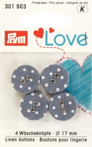 Prym 2-Hole Linen Covered Buttons