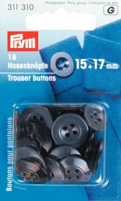 Prym 4-Hole Trouser Buttons