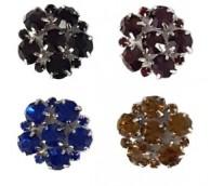 Flower Gem Buttons