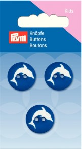 Prym 2-Hole Kids Dolphin Buttons