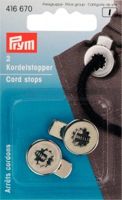 2 Prym Cord Stops with 1 Hole