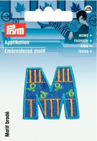 Prym Embroidered Letter 'M' Motif