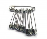 27mm, 34mm, 38mm Assorted Nickel Safety Pins
