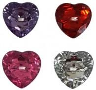Heart Shaped Gem Buttons
