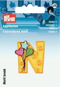 Prym Embroidered Letter 'N' Motif