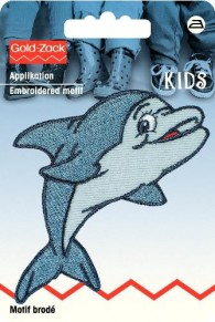 Prym Embroidered Dolphin Motif