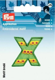Prym Embroidered Letter 'X' Motif