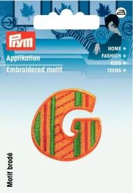 Prym Embroidered Letter 'G' Motif