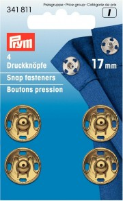 4 Sew-On Snap fasteners