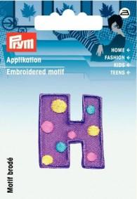 Prym Embroidered Letter 'H' Motif