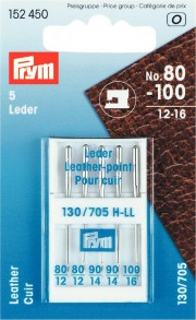 5 Prym Leder Leather-point Needles