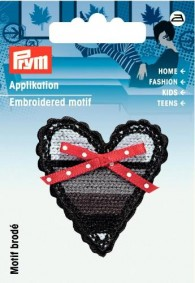 Prym Embroidered Heart Motif