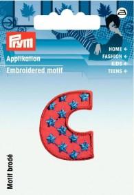 Prym Embroidered Letter 'C' Motif