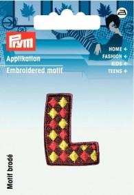 Prym Embroidered Letter 'L' Motif