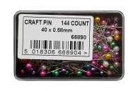 144 Assorted Craft Pins
