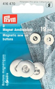 3 Magnetic Sew On Buttons