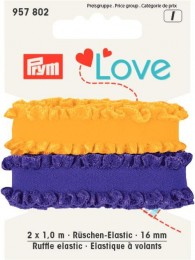 Prym Ruffle Elastic 2x1of 16mm
