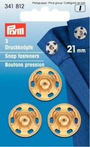 3 Sew-On Snap fasteners