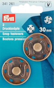 2 Sew-On Snap fasteners