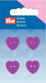 Prym 2 Hole Kids Heart Buttons