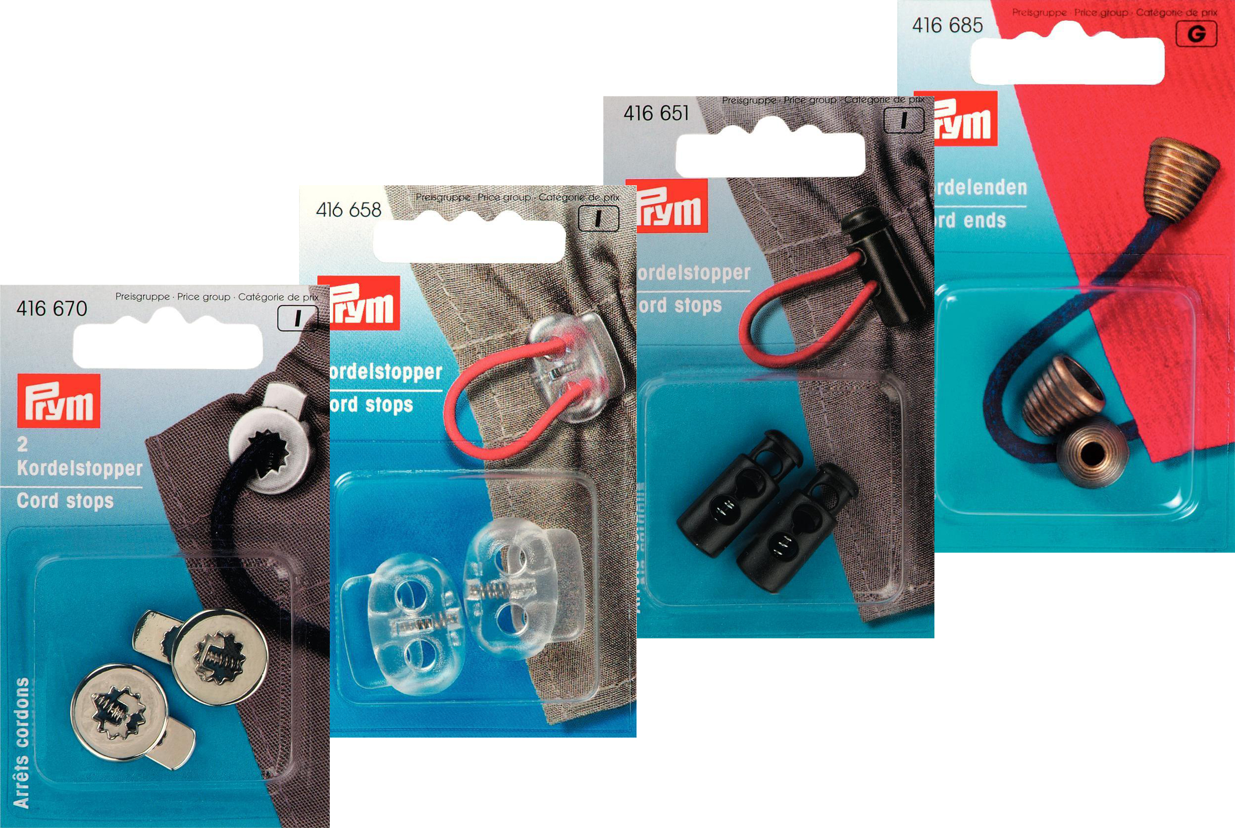 Prym Cord Ends/ Cord Adjusters