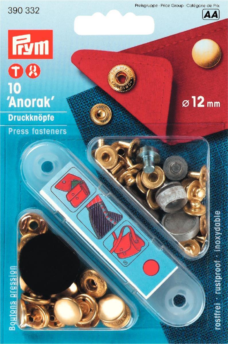 Prym \'Anorak\' Press fasteners - London Trimmings
