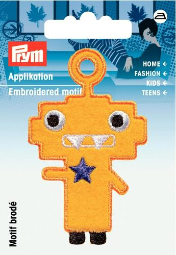 Prym Embroidered Yellow Monster Motif