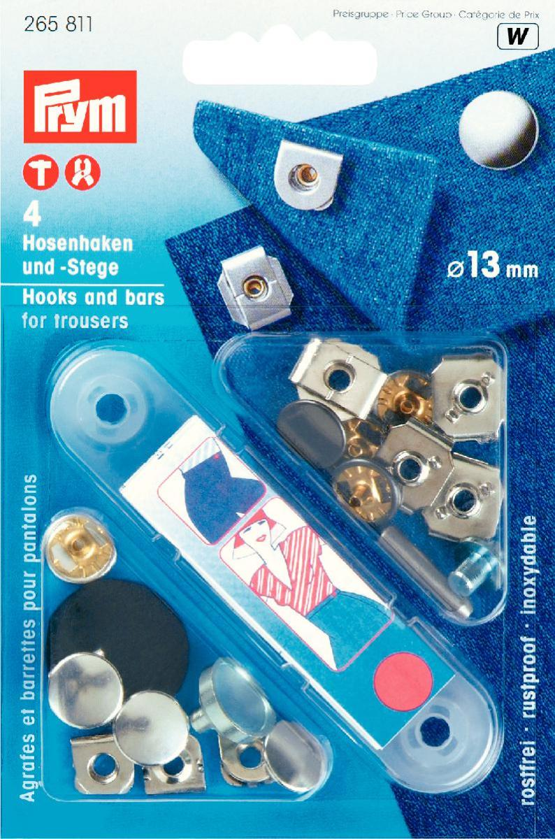 Prym Non-Sew 13mm Hooks and Bars