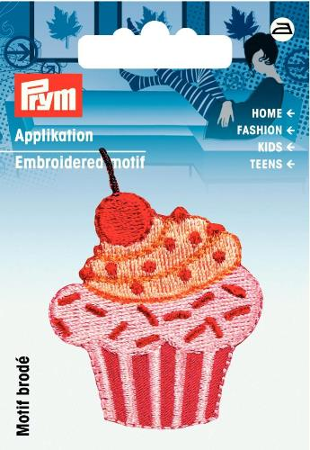 Prym Embroidered Cupcake Motif