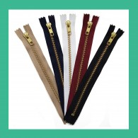 YKK NO.5 Gold Closed End Zips
