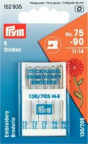 Prym Embroidery Machine Needles, No. 75-90