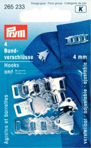 Prym 4mm Adjustable Hooks and Bars
