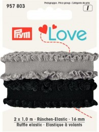 Prym Ruffle Elastic 2x1m of 16mm